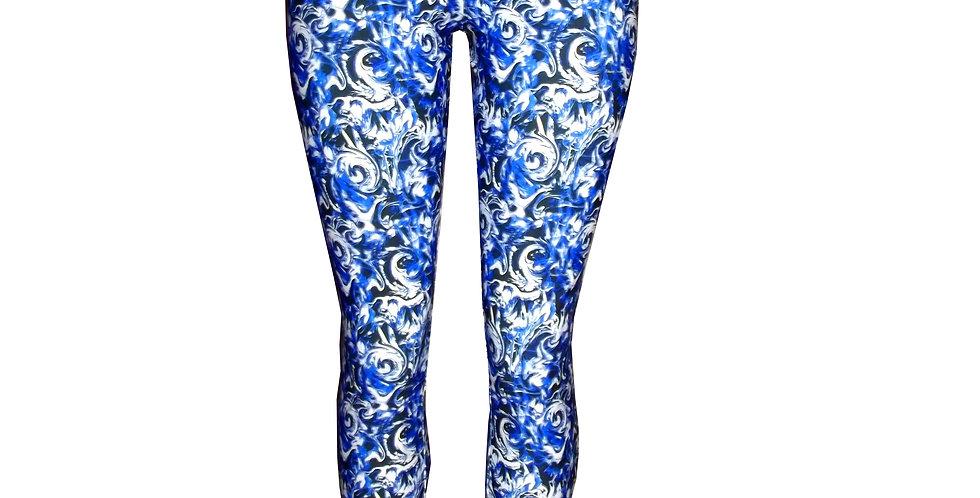 Rhapso Designs Cashing waves print yoga leggings front view