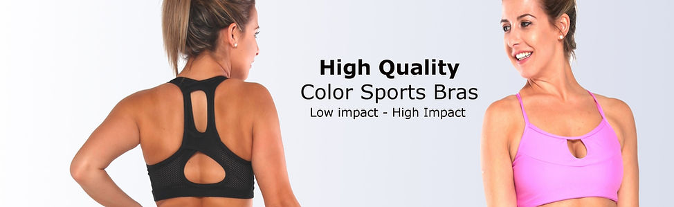 Color Sports Bras and Crop Tops