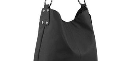 N11 Black Leather bag by Manzoni