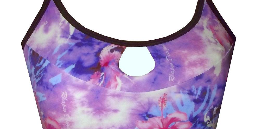 Rhapso Designs Wet Wildflower Print Crop Top CT2P855 front view