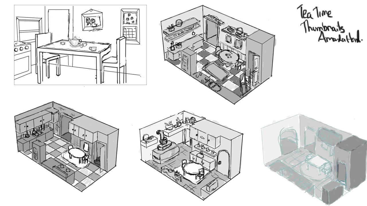 """Tea Time"" Location Thumbnails"