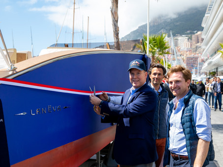 A princely inauguration for the first Lanéva boat