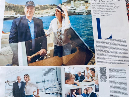 Lanéva featured in the GALA magazine with the Prince of Monaco