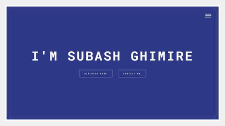 I'm Subash Ghimire