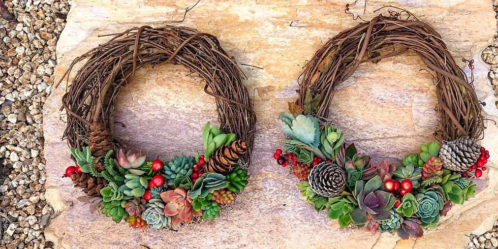 Succulent Holiday Wreath Workshop