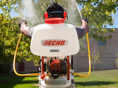 Echo sprayer in action