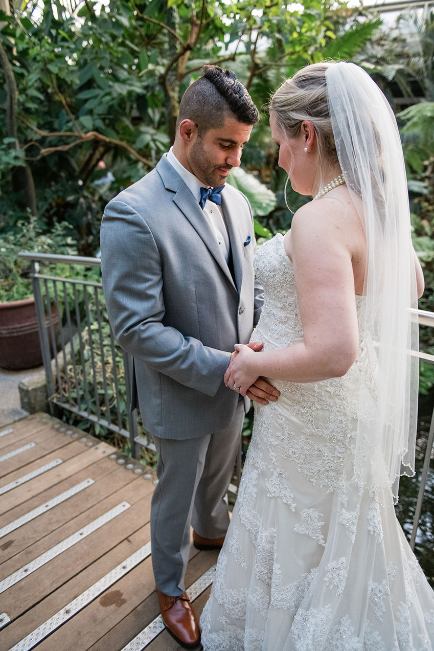 Calgary Zoo Greenhouse Wedding, Maternity Wedding Photo