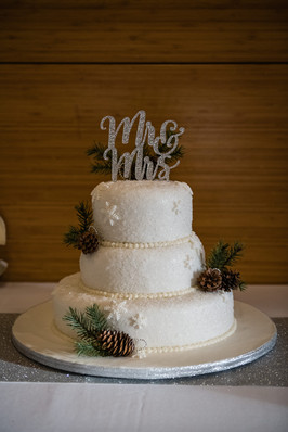 Calgary Zoo Wedding Reception, Wedding Cake