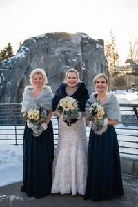 Calgary Zoo Winter Wedding, Bridesmaids