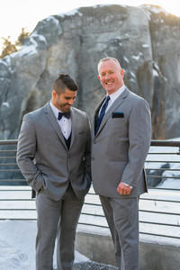Calgary Zoo Winter Wedding, Groomsmen
