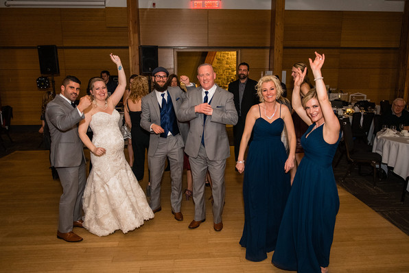 Calgary Zoo Wedding Reception, Bridal Party on dance floor