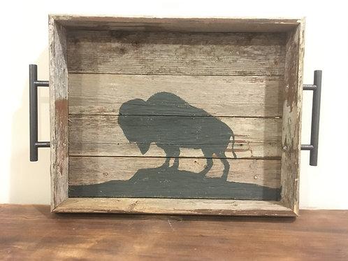 Reclaimed Wood Buffalo Tray