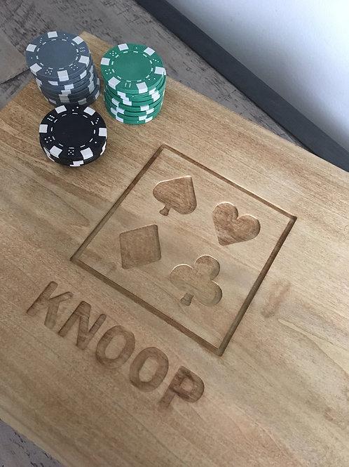 Custom Wood Poker Set - Engraved