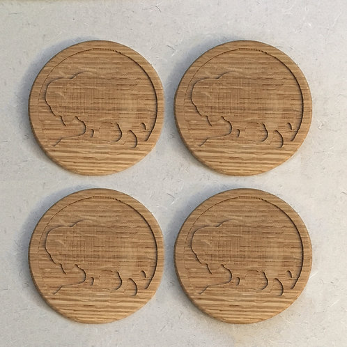 Buffalo Coaster Set