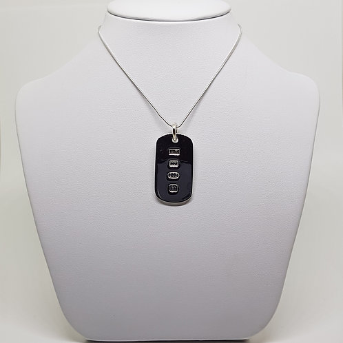 Sterling silver Dog Tag military ingot