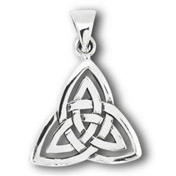 Silver Double Triquetra Celtic Pendant