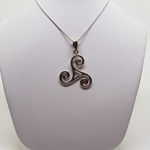 Silver Celtic Triscele Pendant