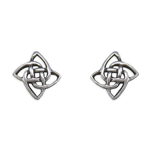 Celtic Rose Silver Earrings