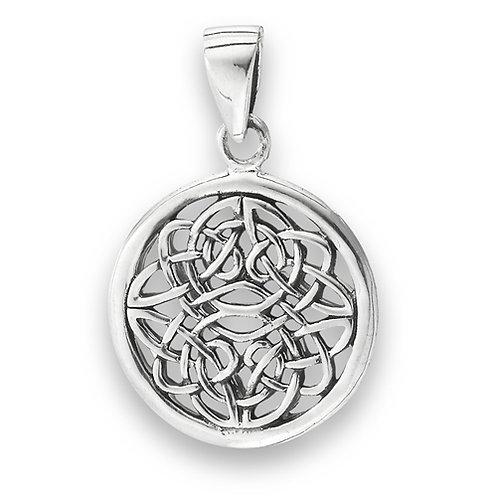 Silver Woven endless knot Pendant