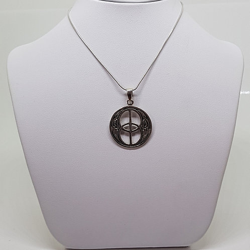 Silver Glastonbury Chalice Well silver necklace