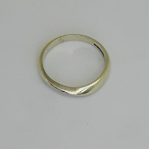 9ct white gold ribbon twist wedding ring Eco925 Ecofriendly