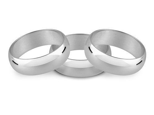 D Shaped Wedding Ring 4mm