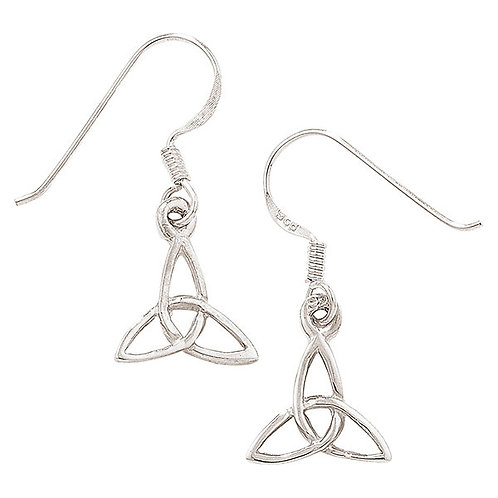Triquetra earrings Celtic trinity knot