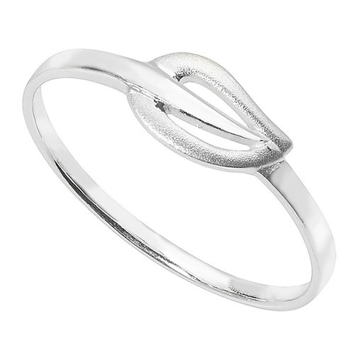Eco-Friendly Silver Leaf Ring