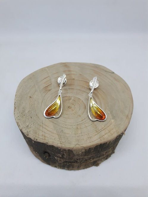 Sunset Amber earrings