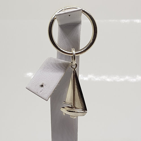 Sterling Silver Yacht Keyring