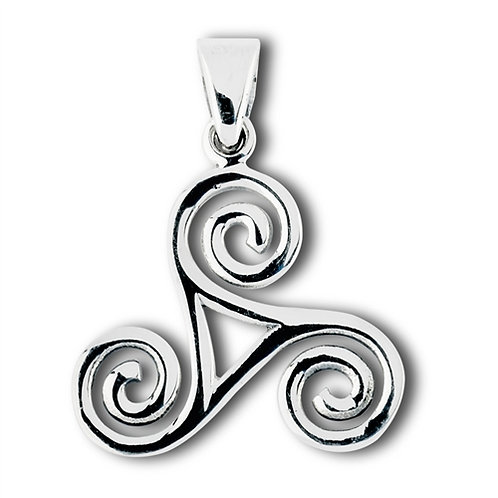 Silver Celtic Trisceal Pendant