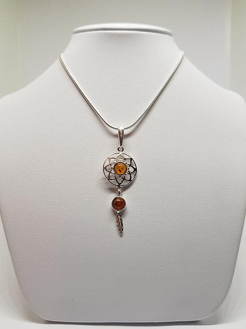 Ojibwe Silver Dreamcatcher pendant