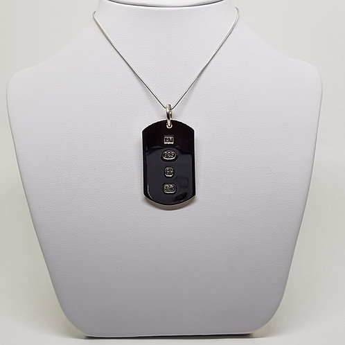 Sterling silver Dog Tag military ingot Heavy Weight