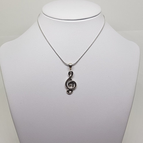 Sterling Silver Musical Clef