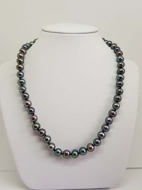 Peacock Pearl Necklace 6mm AAA