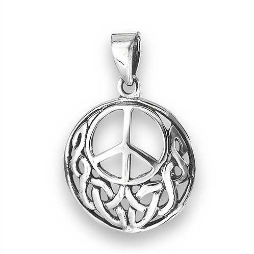 Silver Celtic Peace Pendant