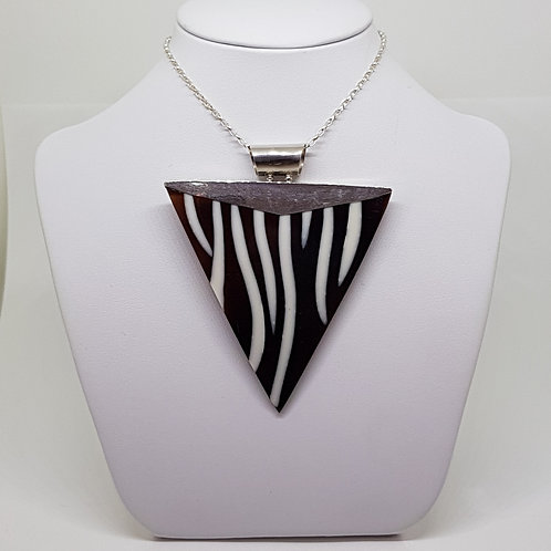 Triangular Zebra Sea Shell necklace