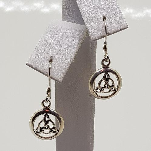 Sterling Silver Celtic Triquetra drop earrings