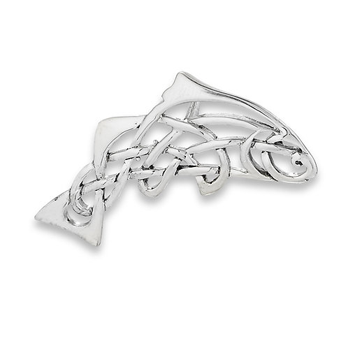 Silver Celtic Fish Pendant