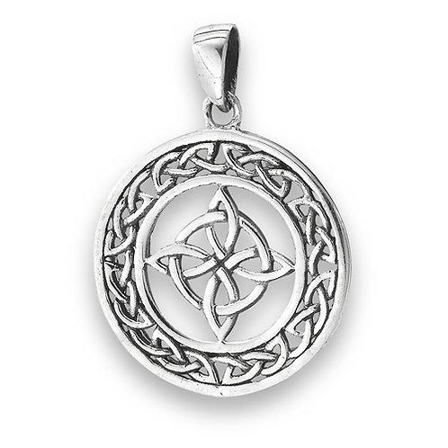 Silver Celtic Endless Weave Pendant