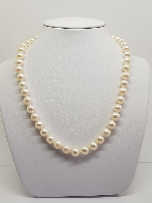 White Freshwater Pearl Necklace 18 inch AA