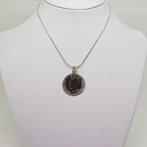 Sterling Silver Sixpence pendant
