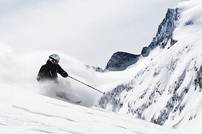 Guy Skiing