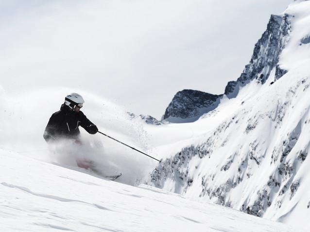 Guy Skiing