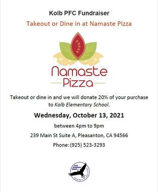 Dine out for Kolb - Namaste Pizza