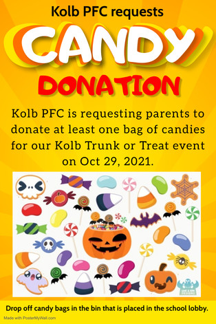 Candy Donation for Trunk or Treat