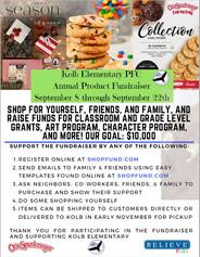Fall Product Fundraiser - Otis Spunkmeyer