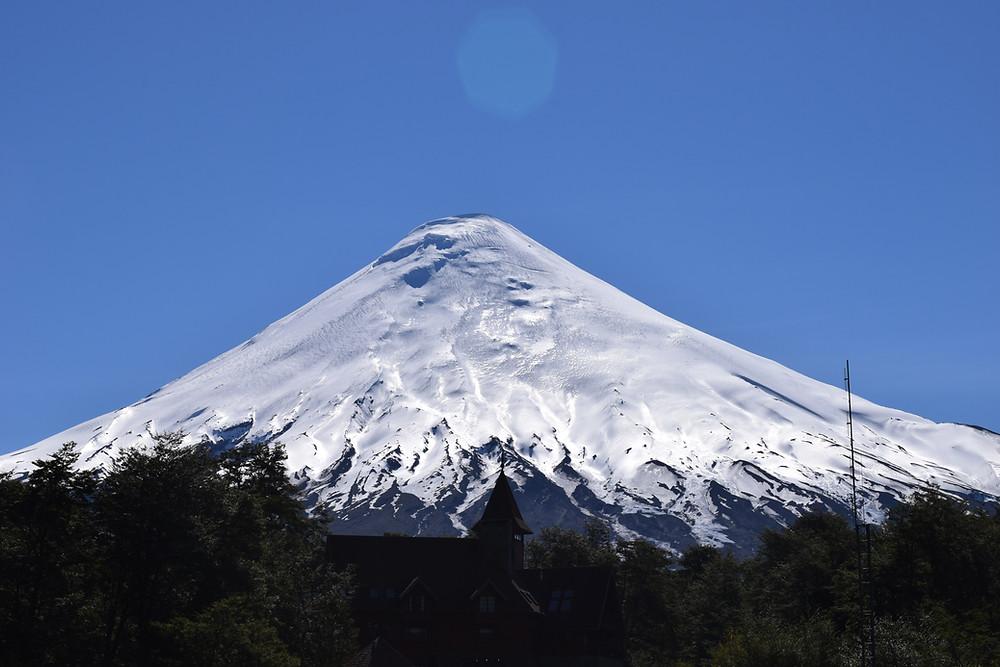 Vulcão na região dos lagos chilena