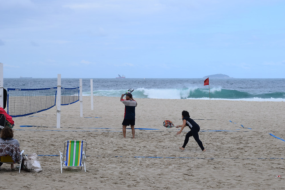 esportes na praia