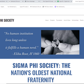 Sigma Phi Society and Foundation have a new digital strategy